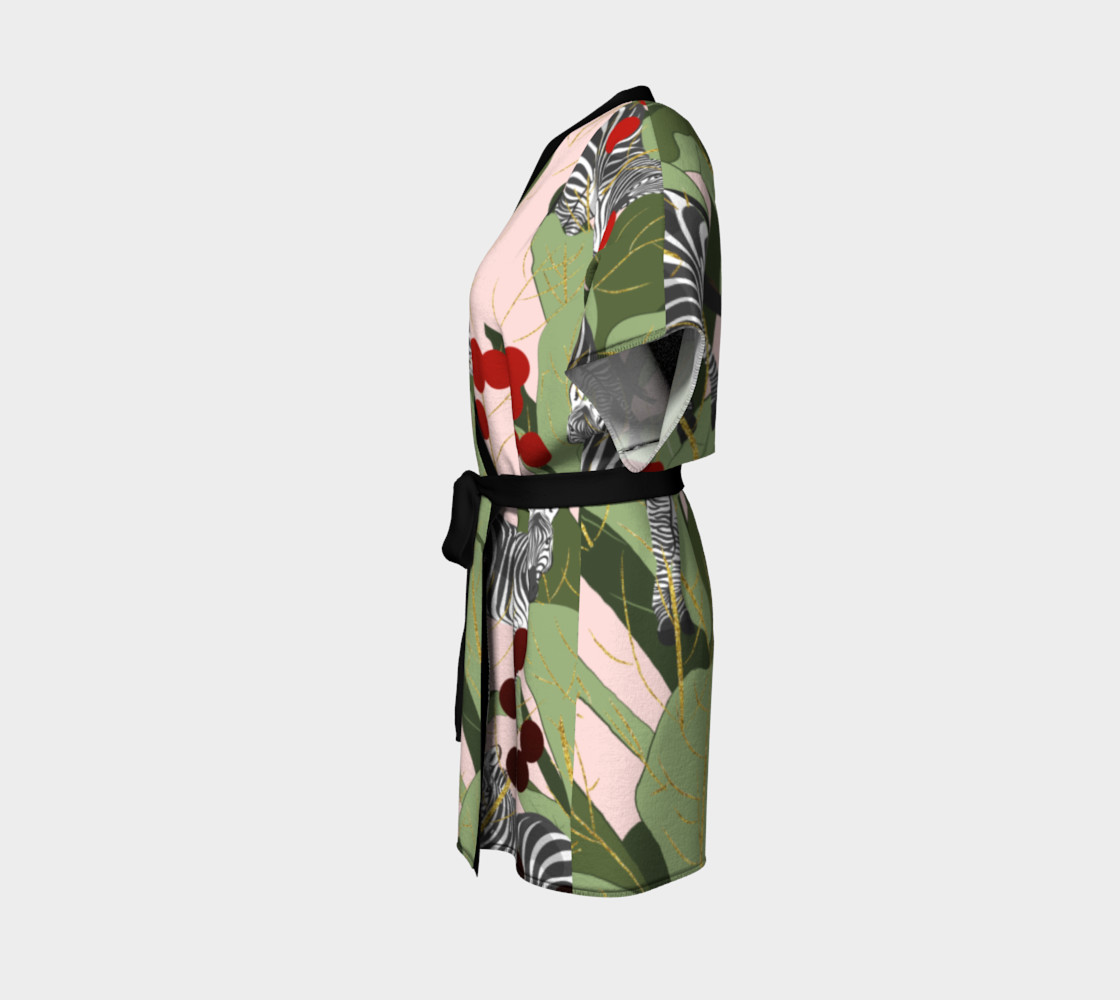 Zebra Harem Kimono Robe preview #2