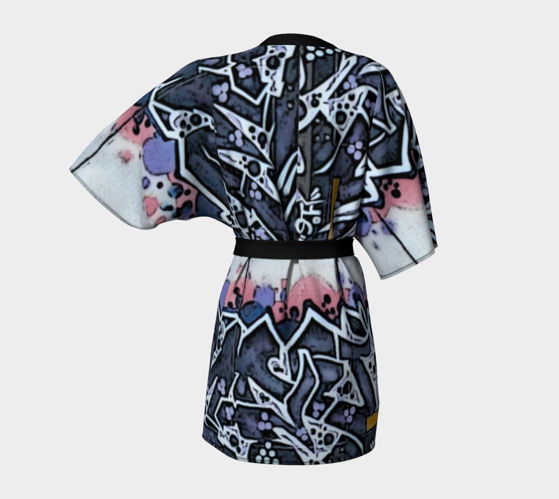 Train Grafitti #4 Kimono Robe preview #4