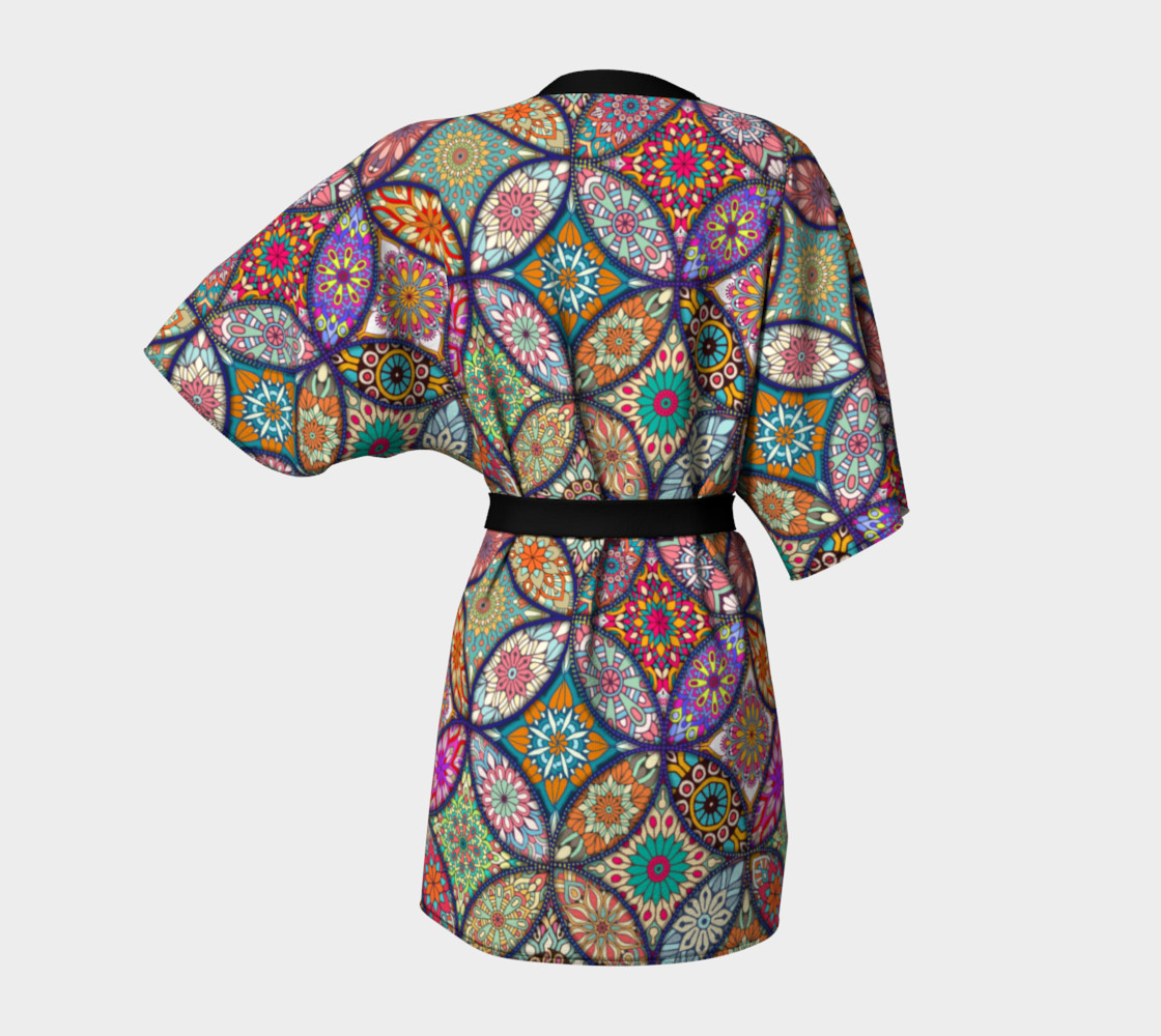 Vibrant Mandalas Kimono Robe preview #4