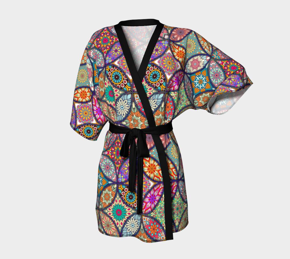 Vibrant Mandalas Kimono Robe preview #1