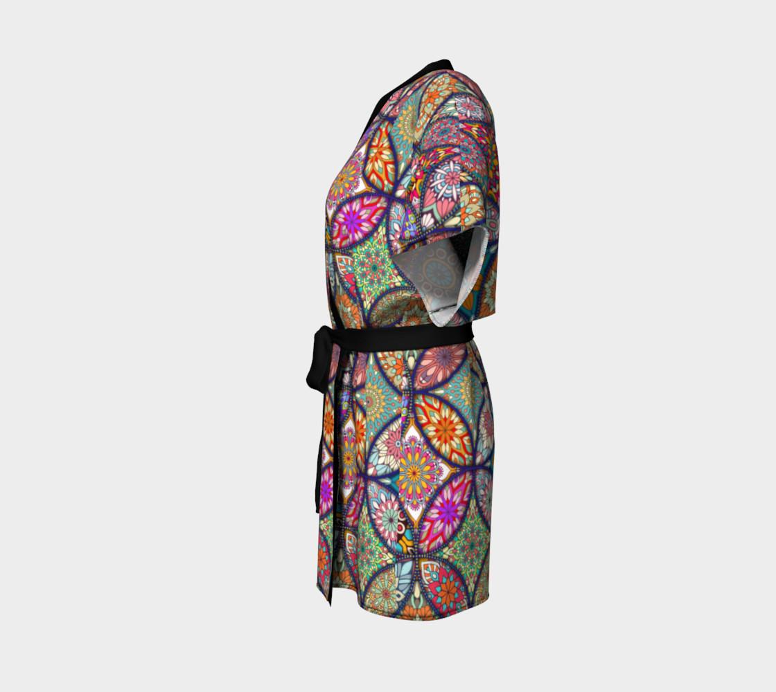 Vibrant Mandalas Kimono Robe preview #2