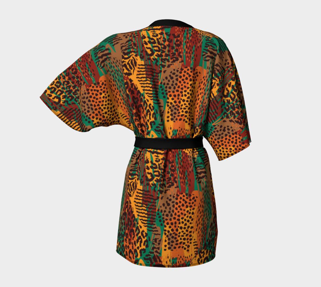 Safari Animal Print Mashup Kimono Robe preview #4