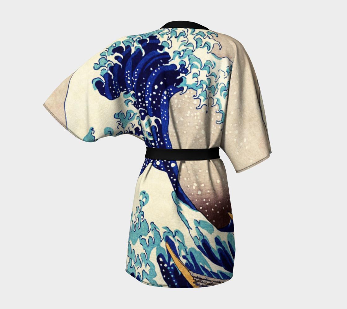 Katsushika Hokusai The Great Wave Off Kanagawa Kimono Robe preview #4