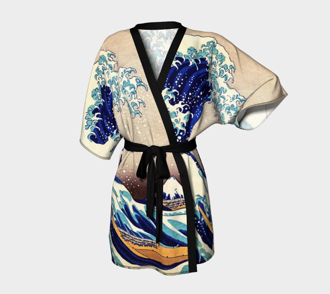 Katsushika Hokusai The Great Wave Off Kanagawa Kimono Robe preview #1