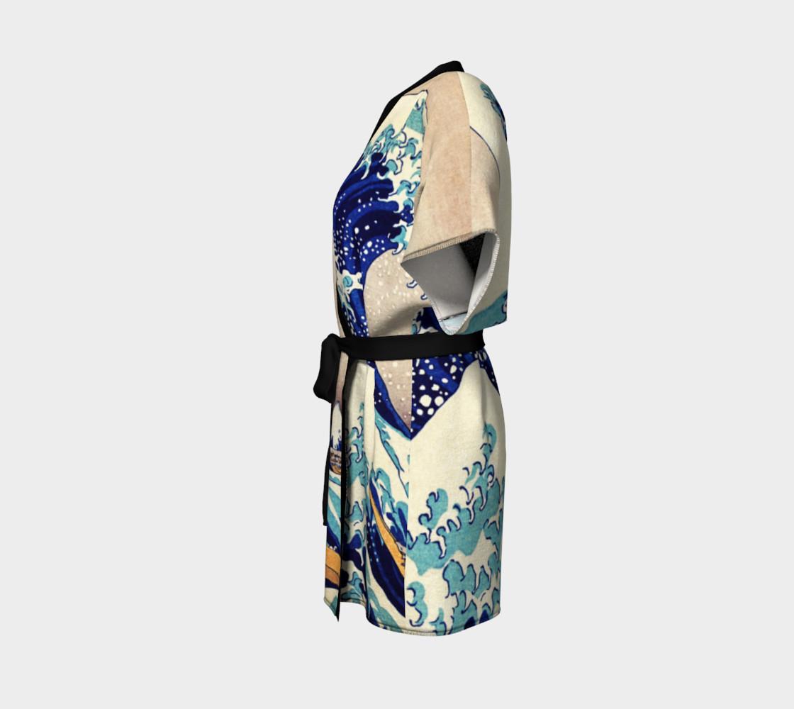 Katsushika Hokusai The Great Wave Off Kanagawa Kimono Robe preview #2