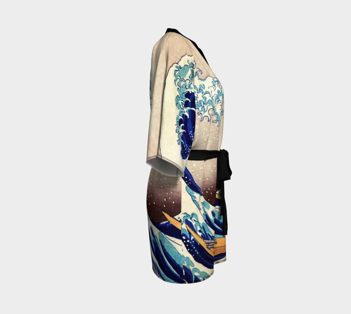 Katsushika Hokusai The Great Wave Off Kanagawa Kimono Robe preview #3