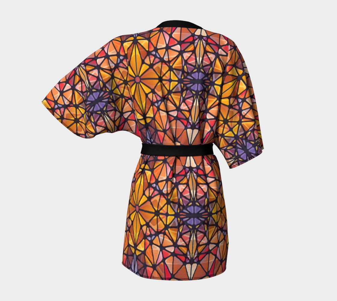 Amber Kaleidoscope Kimono Robe preview #4