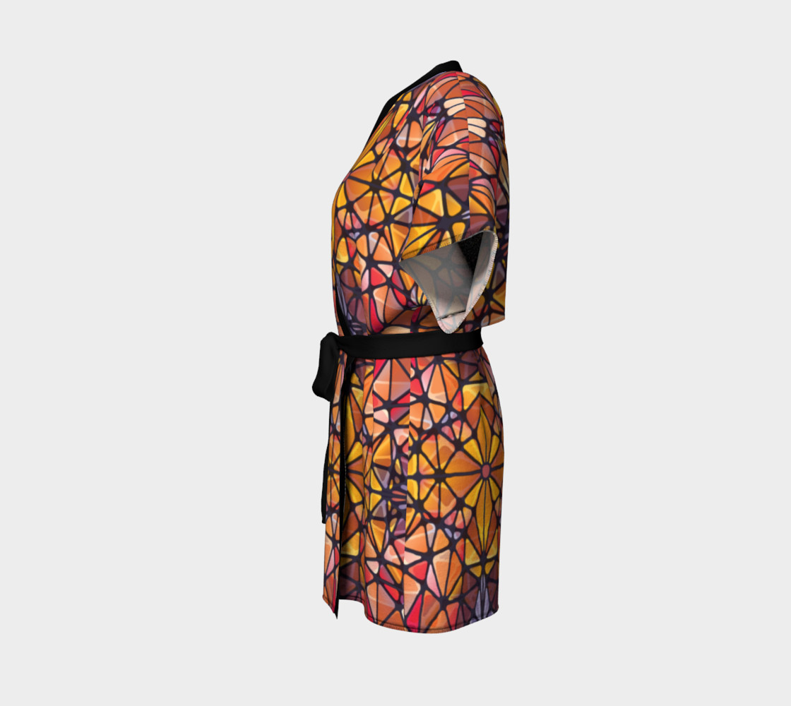 Amber Kaleidoscope Kimono Robe preview #2