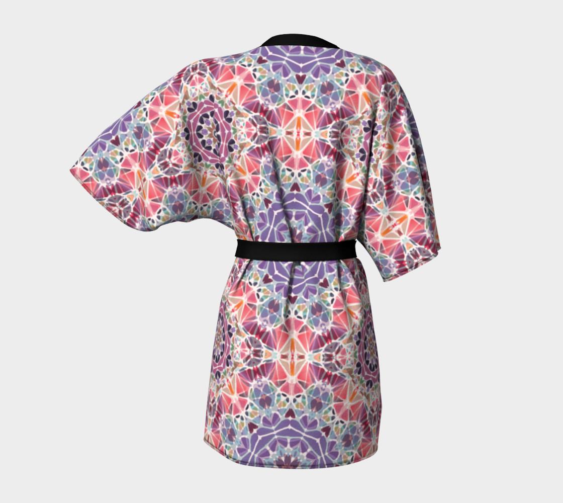 Purple and Pink Kaleidoscope Kimono Robe preview #4
