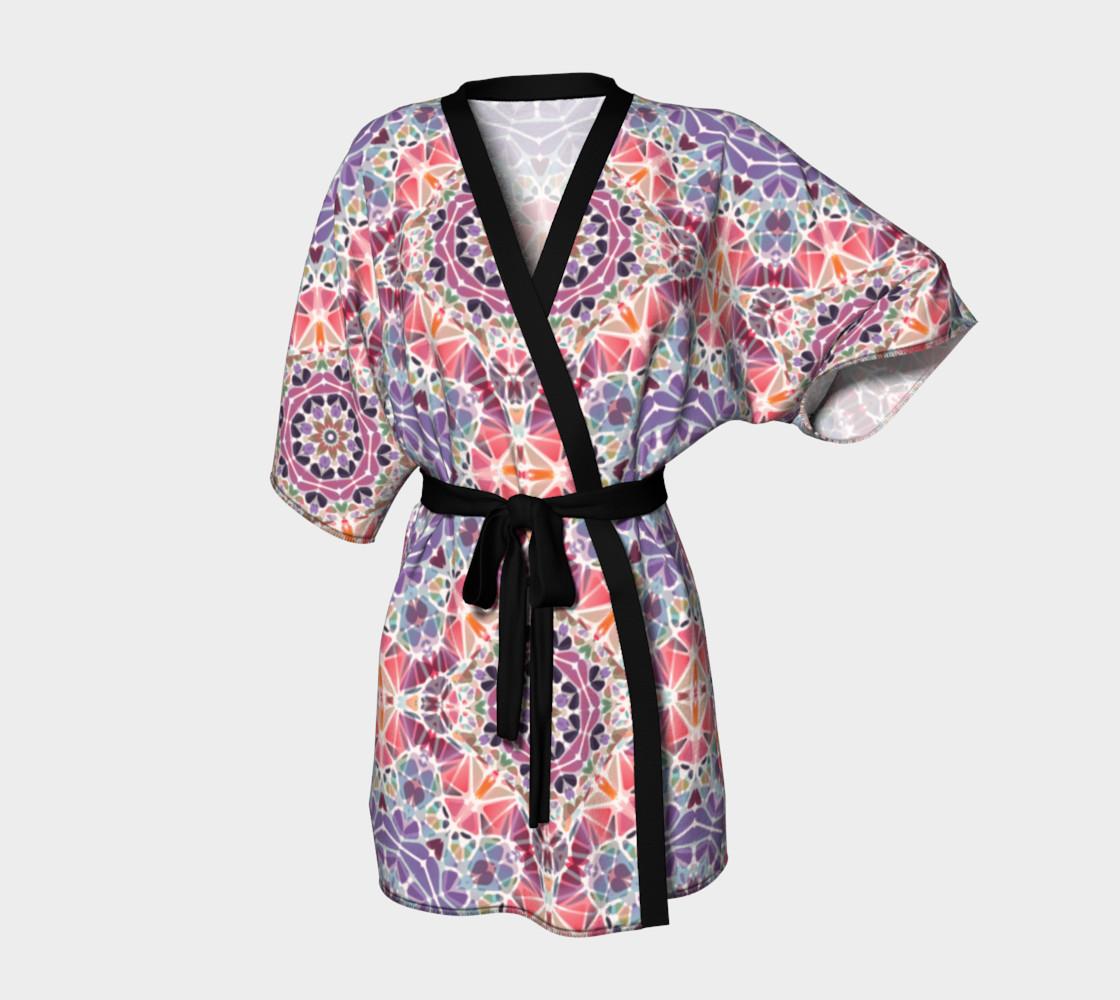 Purple and Pink Kaleidoscope Kimono Robe preview #1