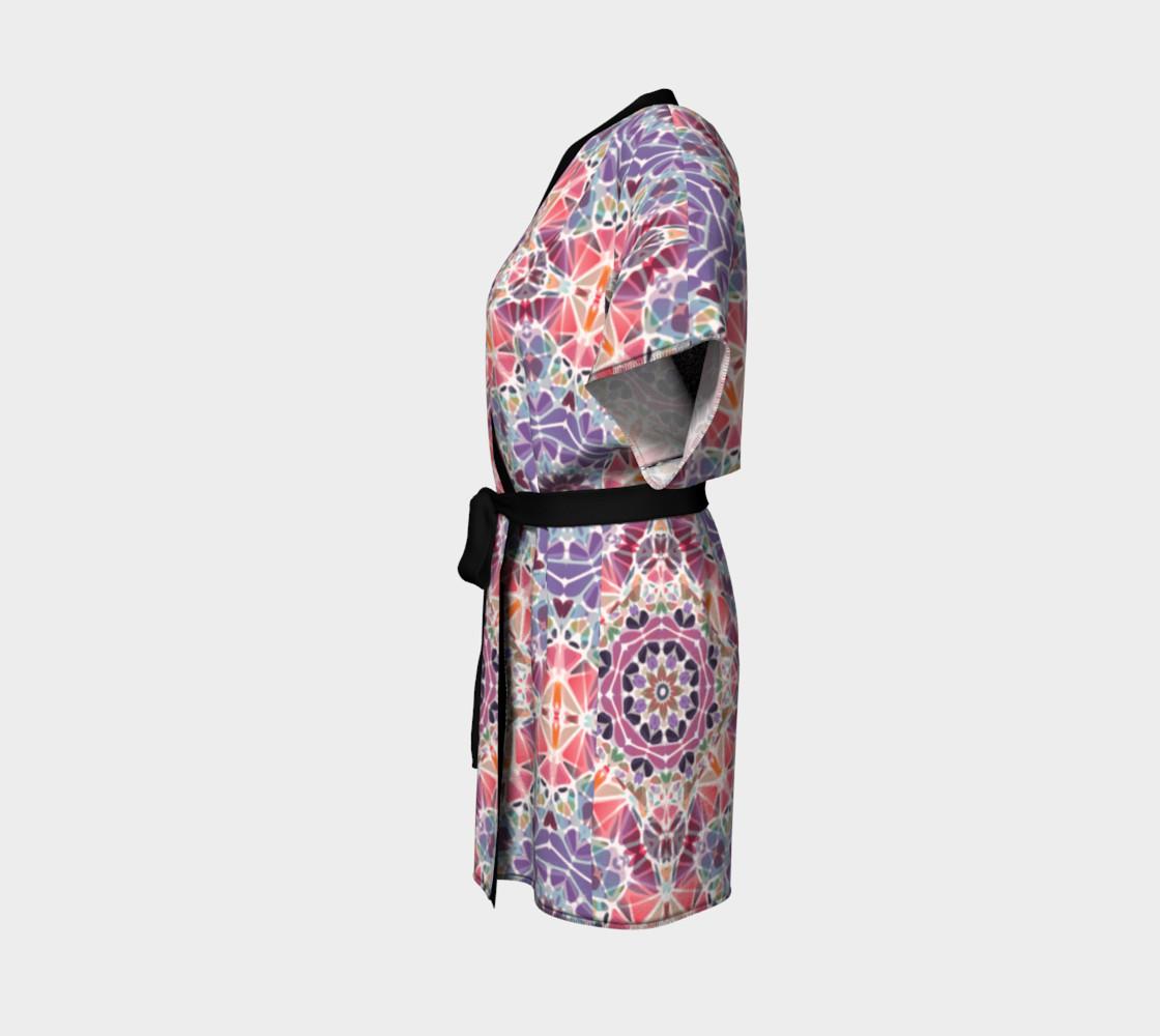 Purple and Pink Kaleidoscope Kimono Robe preview #2
