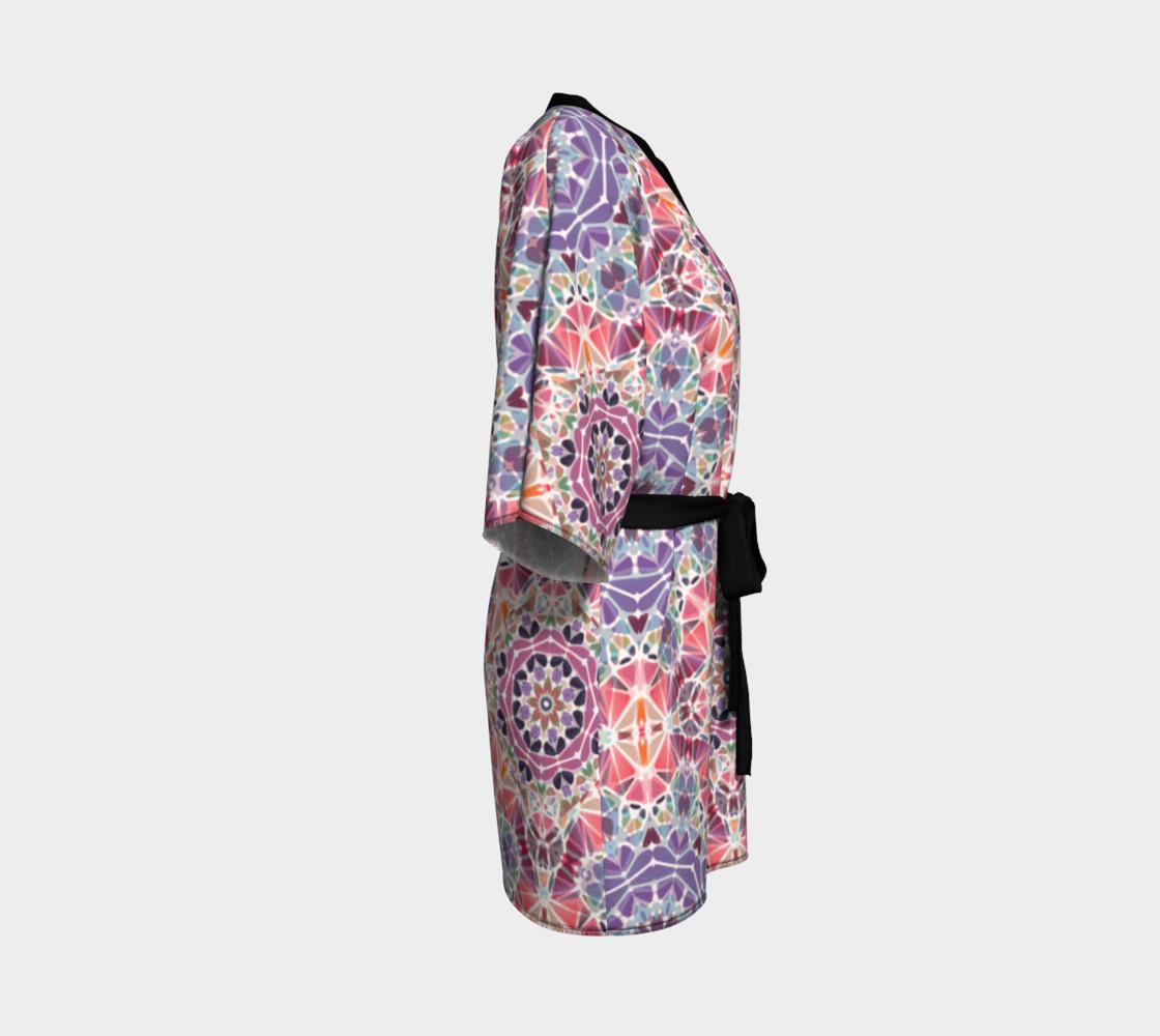 Purple and Pink Kaleidoscope Kimono Robe preview #3