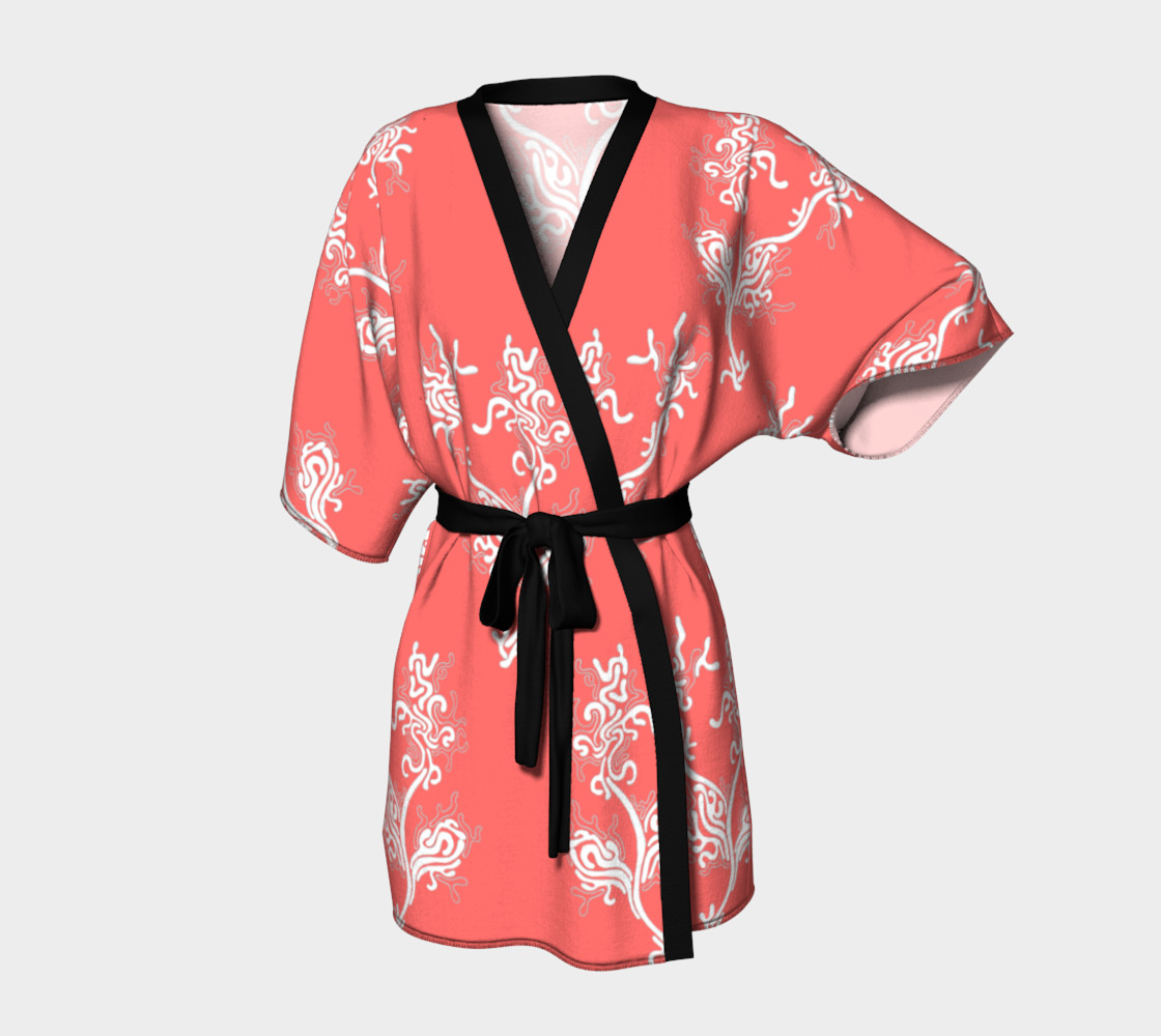 Life Aquatic Living Coral Kimono Robe preview #1