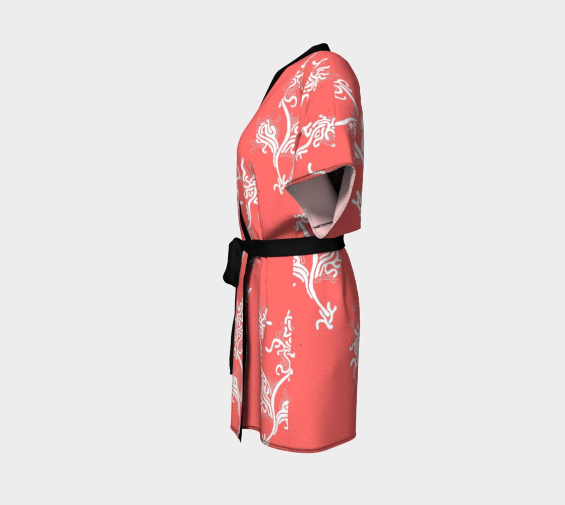 Life Aquatic Living Coral Kimono Robe preview #2