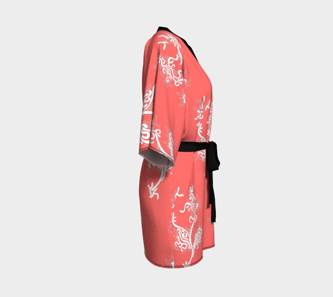 Life Aquatic Living Coral Kimono Robe preview #3