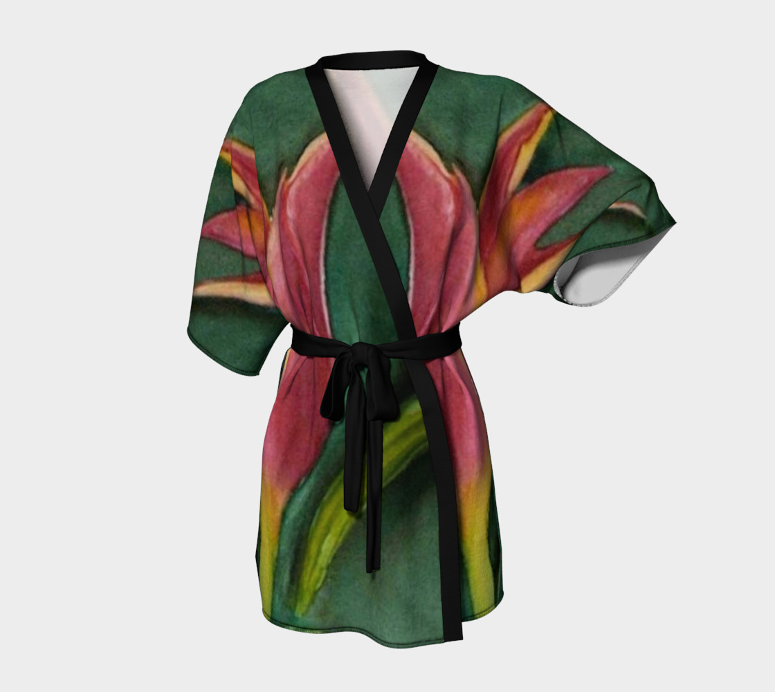 Fire Red Tulip Robe preview #1