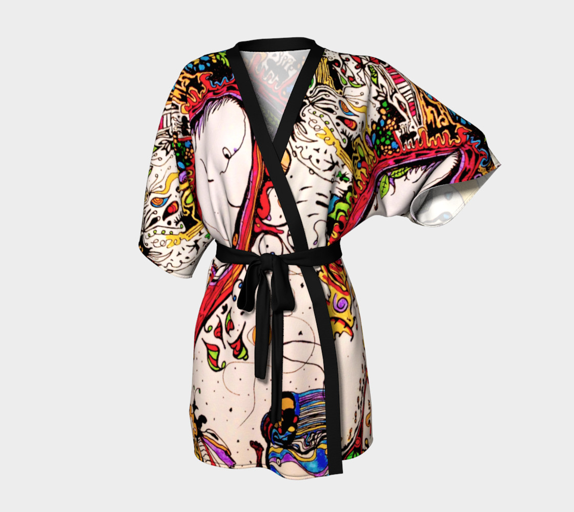 Dream Samurai Kimono Kimono Robe By Gina Zappia Shop Art Of Where