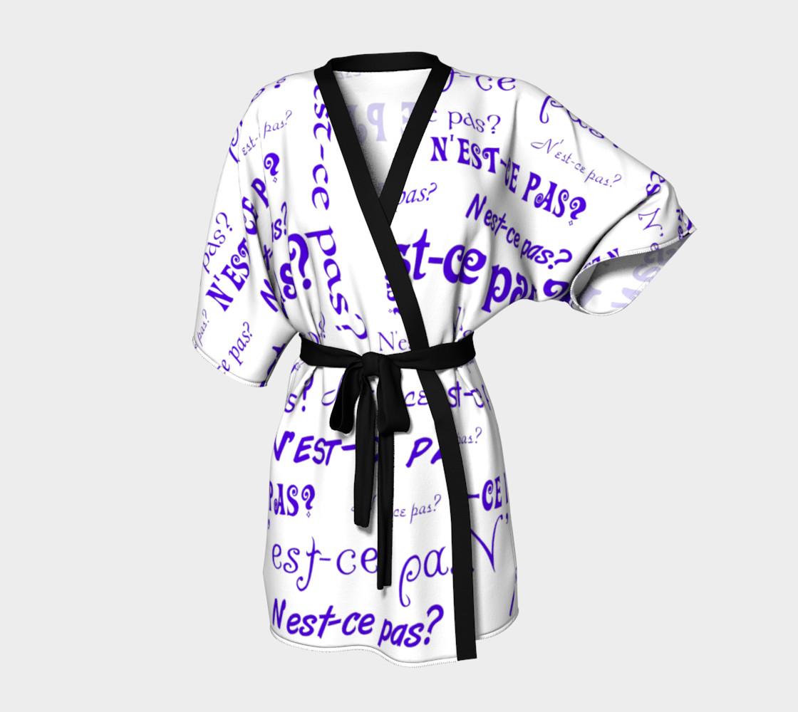 Purple N'est-ce Pas Kimono preview #1