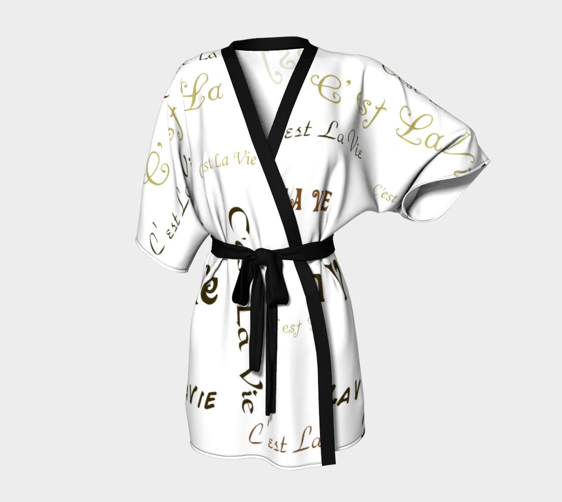 Mocha C'est la Vie Kimono preview #1