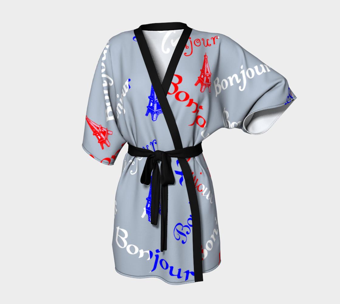 French Flag Bonjour Kimono preview #1