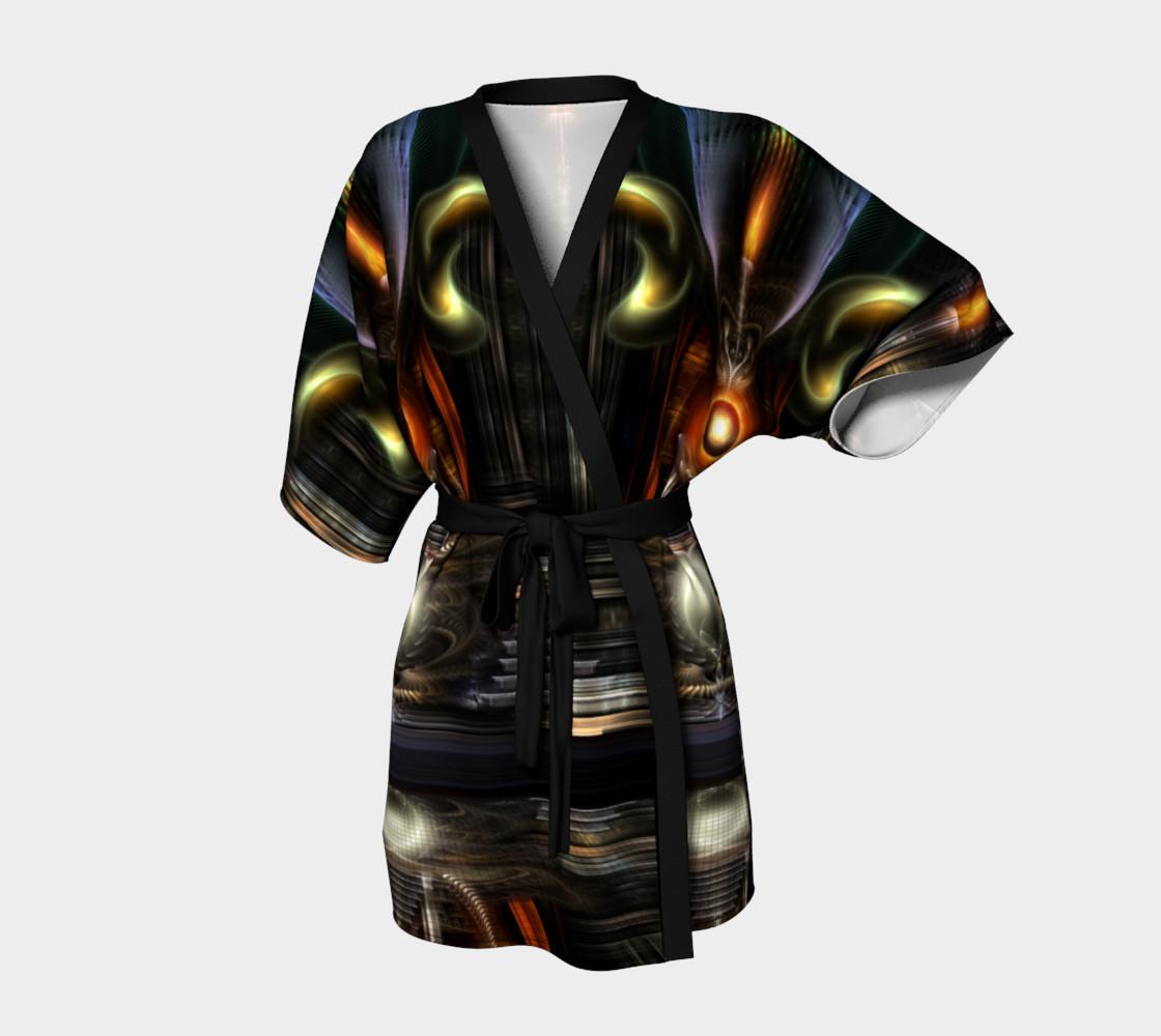 The Throne Room Fractal Art Kimono Robe preview #1