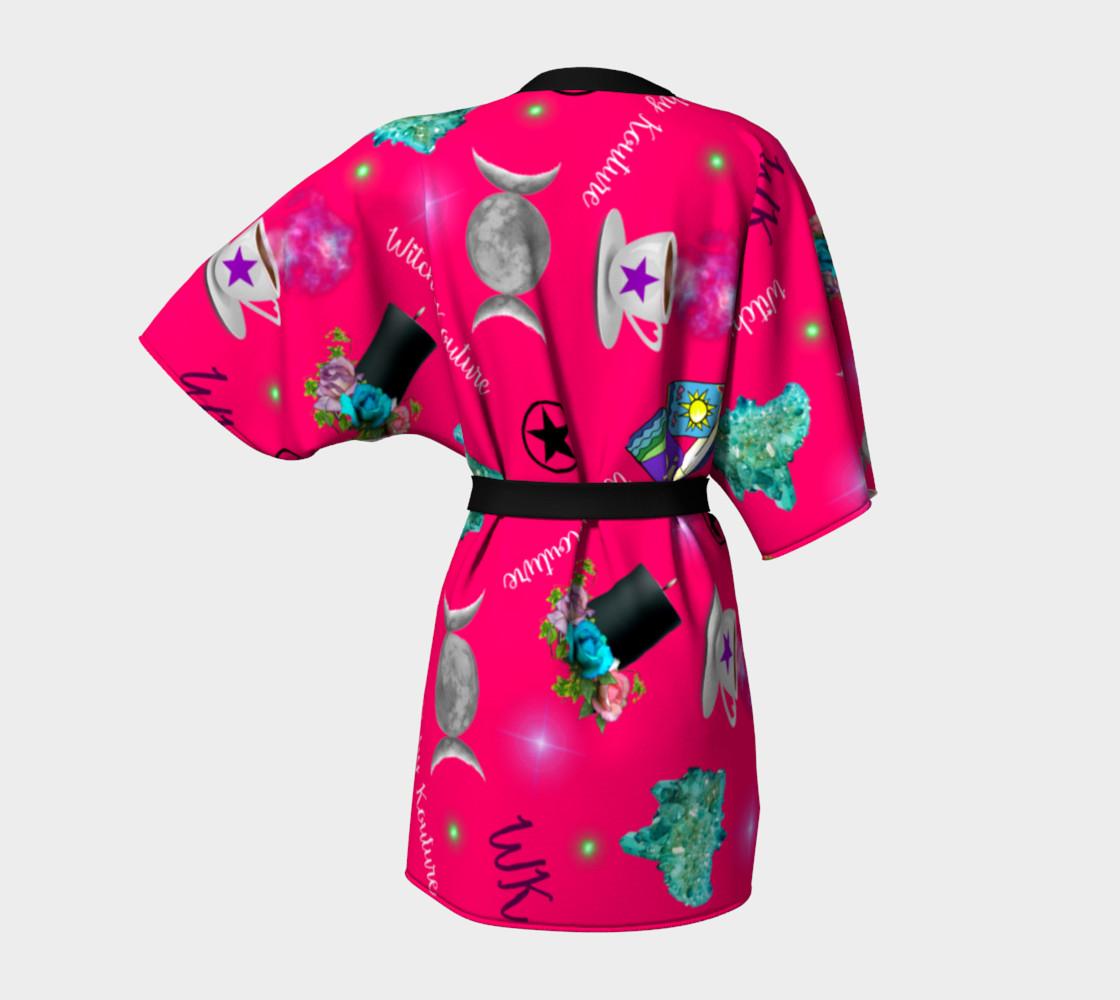 WK #ModernWitchLife Pink Print Kimono Robe preview #4