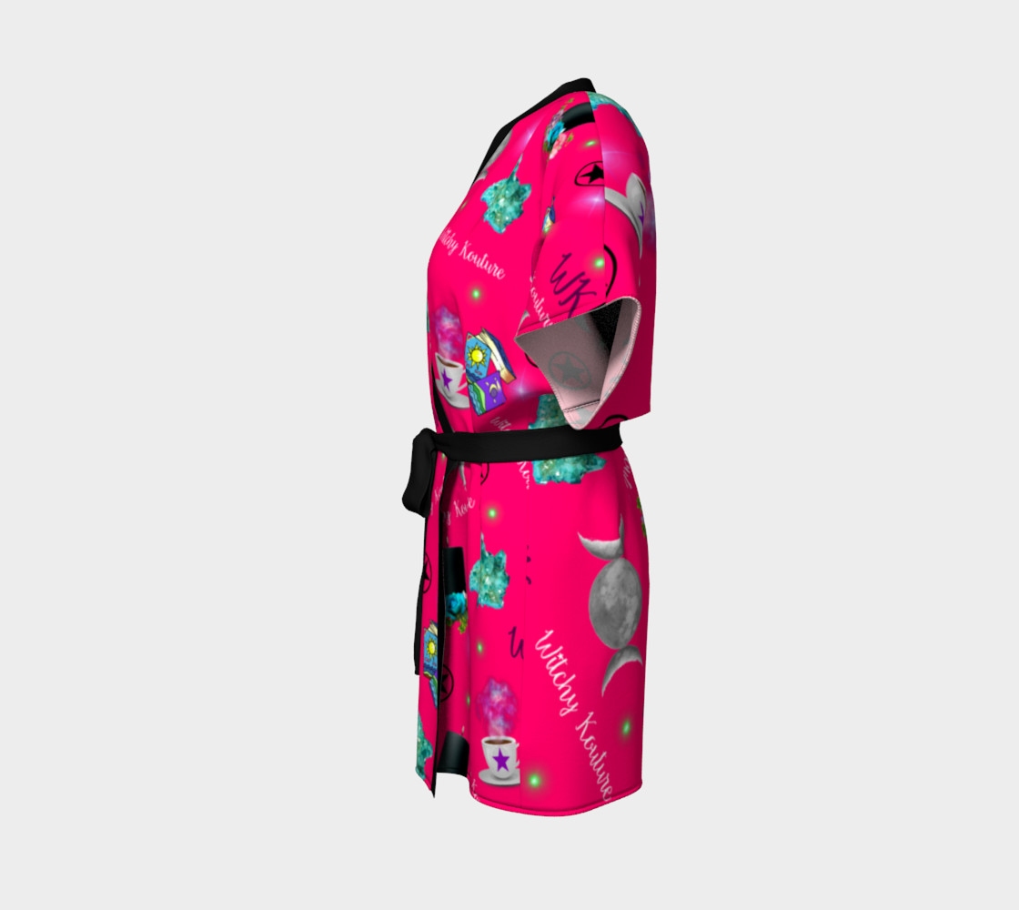 WK #ModernWitchLife Pink Print Kimono Robe preview #2