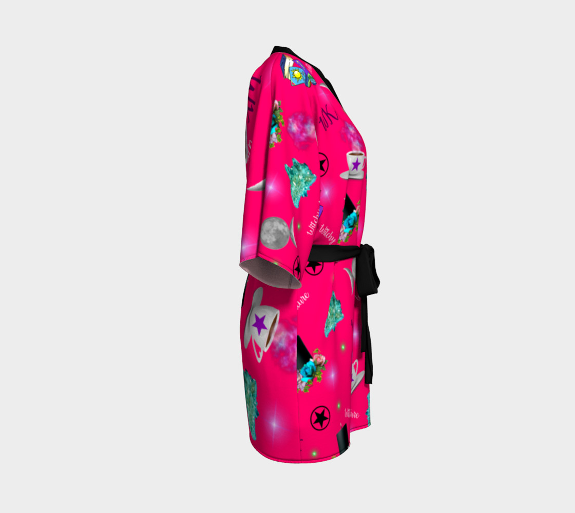 WK #ModernWitchLife Pink Print Kimono Robe preview #3