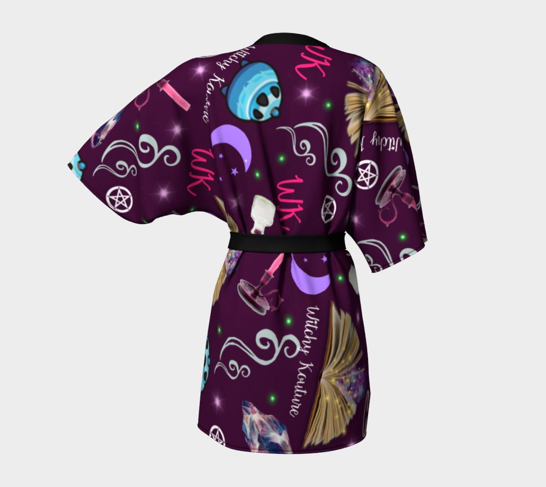 WK #ModernWitchLife Purple Print Kimono Robe preview #4