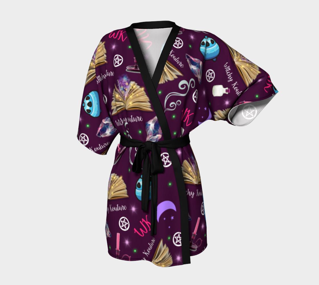 WK #ModernWitchLife Purple Print Kimono Robe preview #1