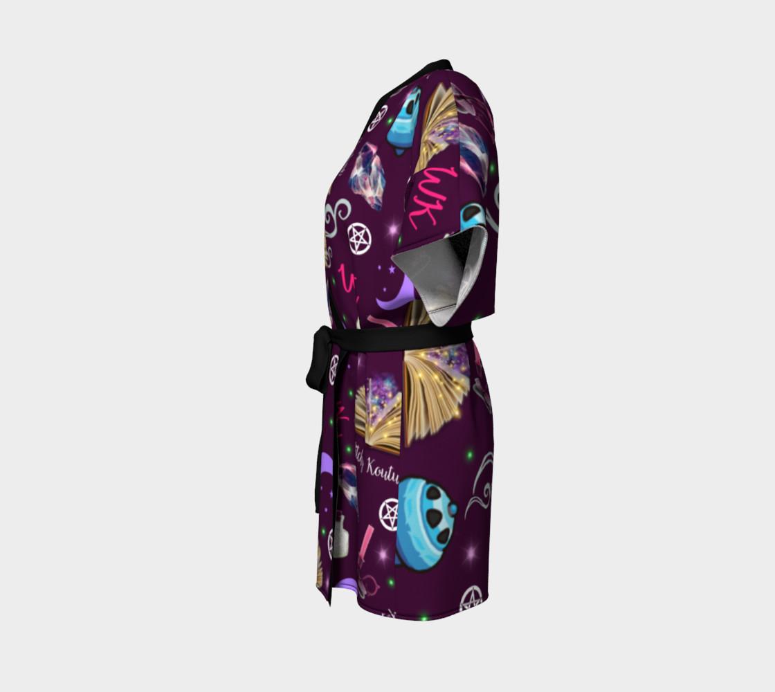 WK #ModernWitchLife Purple Print Kimono Robe preview #2