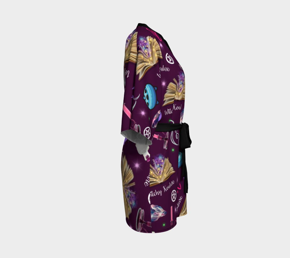 WK #ModernWitchLife Purple Print Kimono Robe preview #3