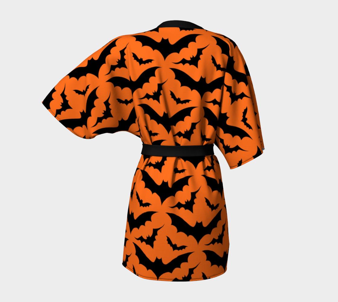 Orange Bats Kimono Robe preview #4