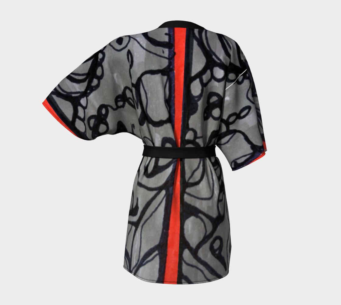 Aperçu de red stripe kimono #4