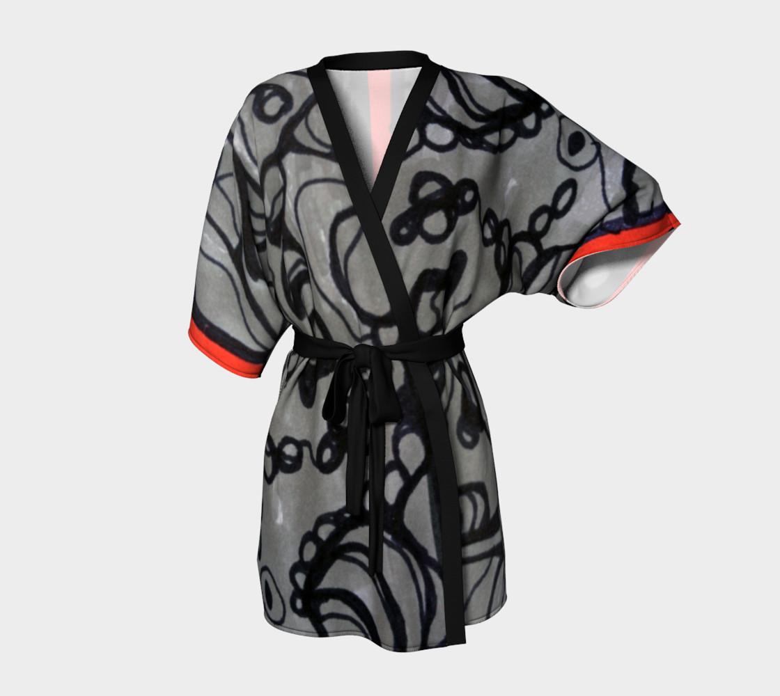 Aperçu de red stripe kimono #1