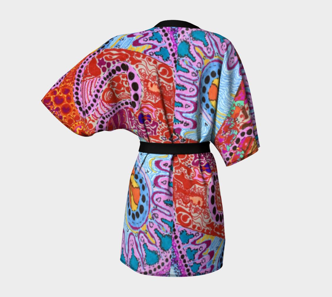Cellular Spirals Kimono preview #4