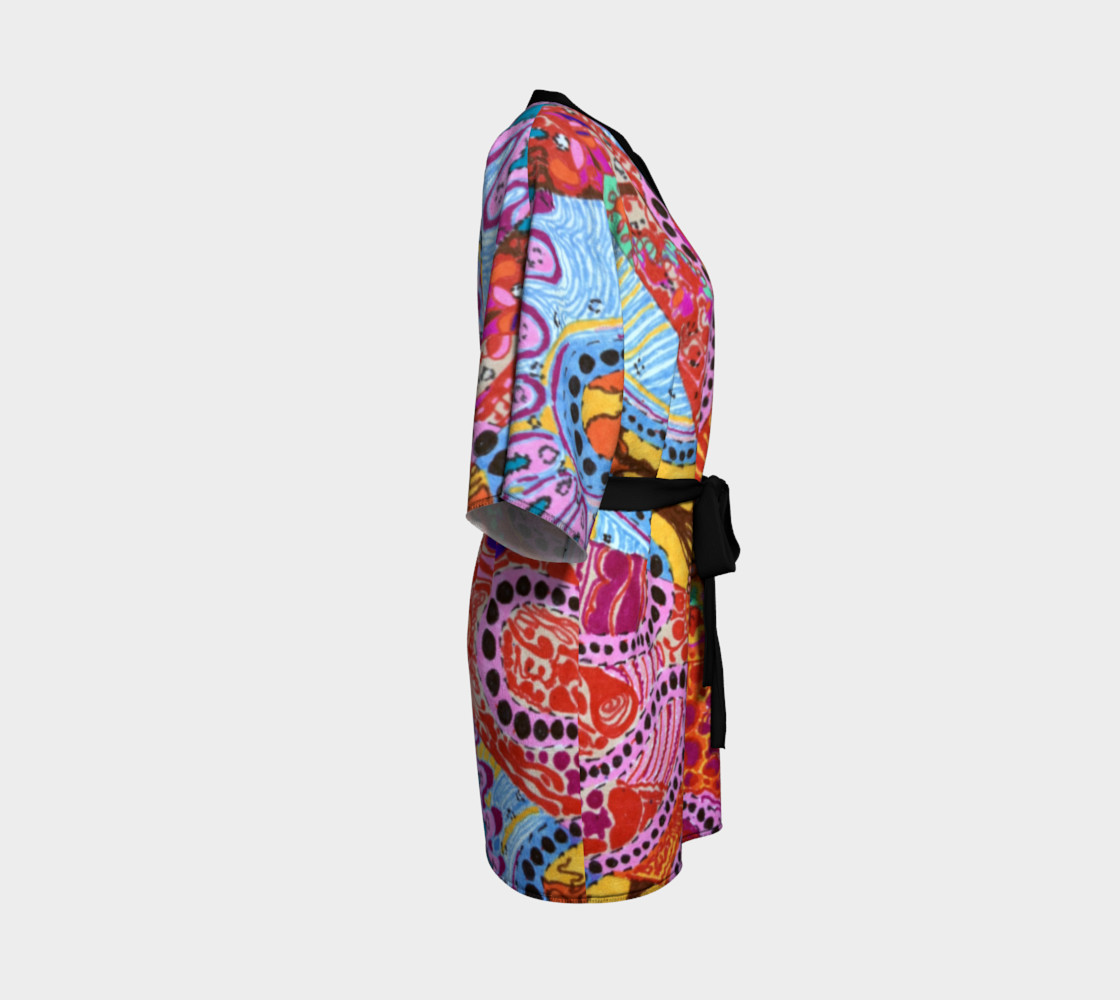 Cellular Spirals Kimono preview #3