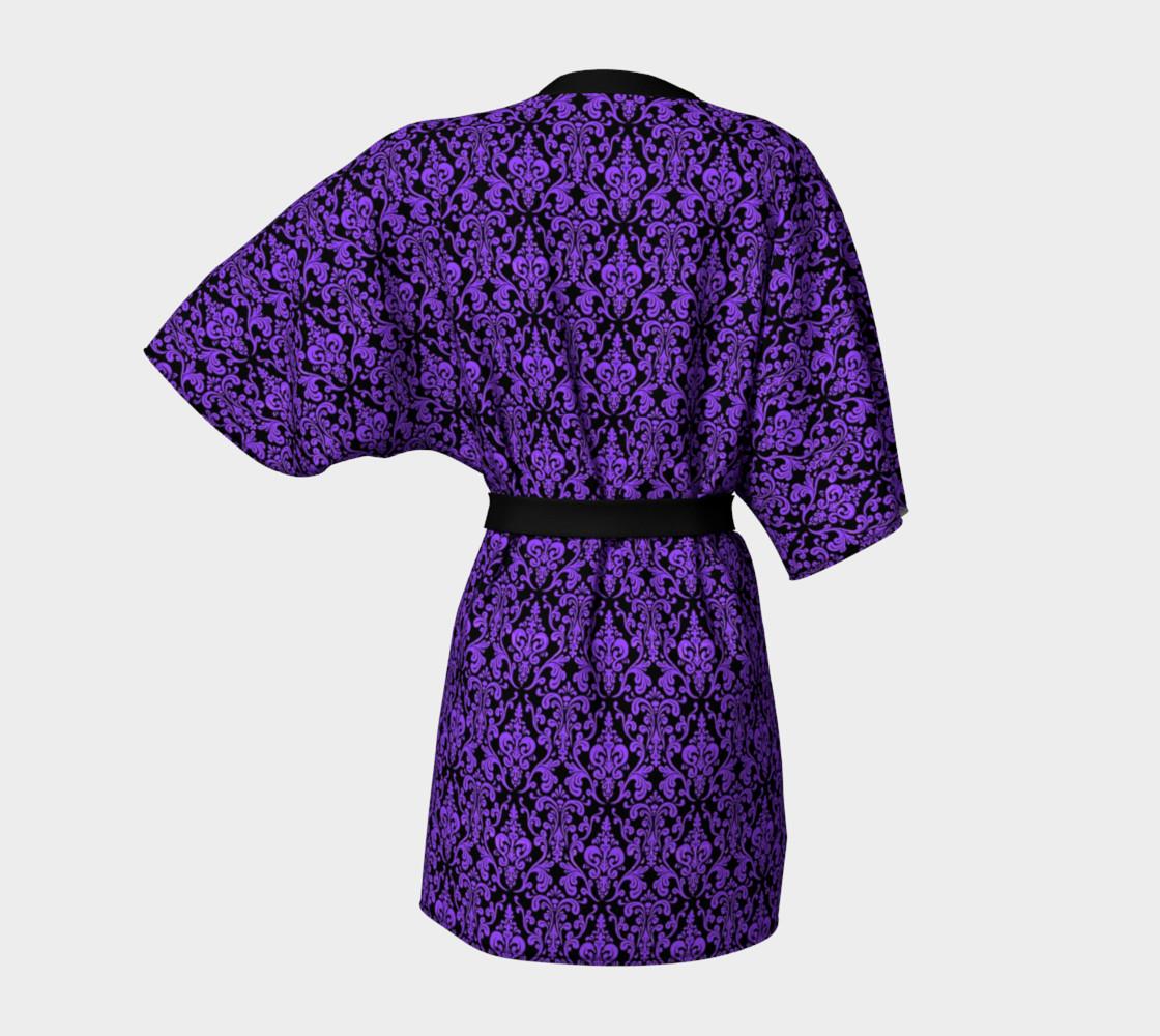 Aperçu de Purple Damask Kimono #4