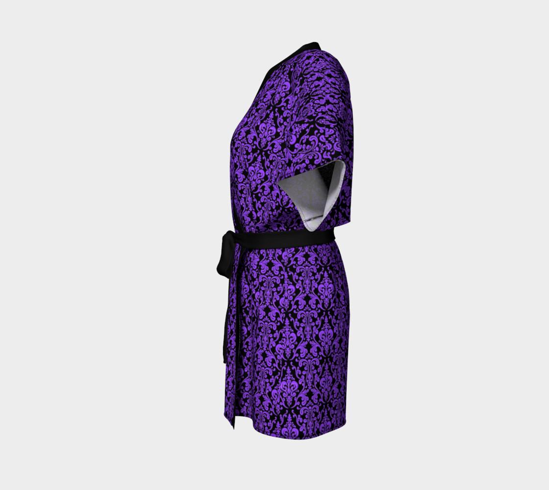 Aperçu de Purple Damask Kimono #2