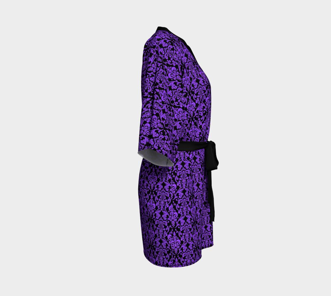 Aperçu de Purple Damask Kimono #3