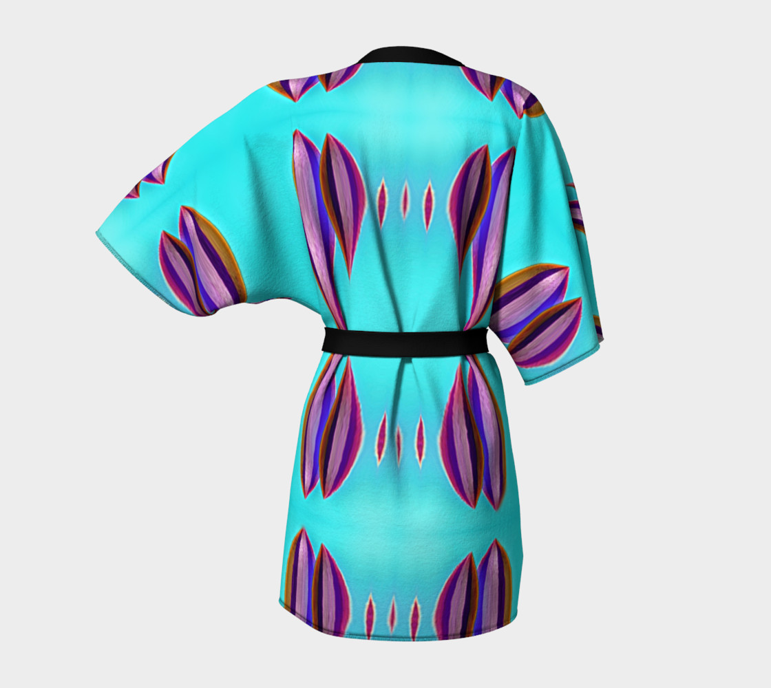 Aperçu de Kinomo robe with sea colors #4