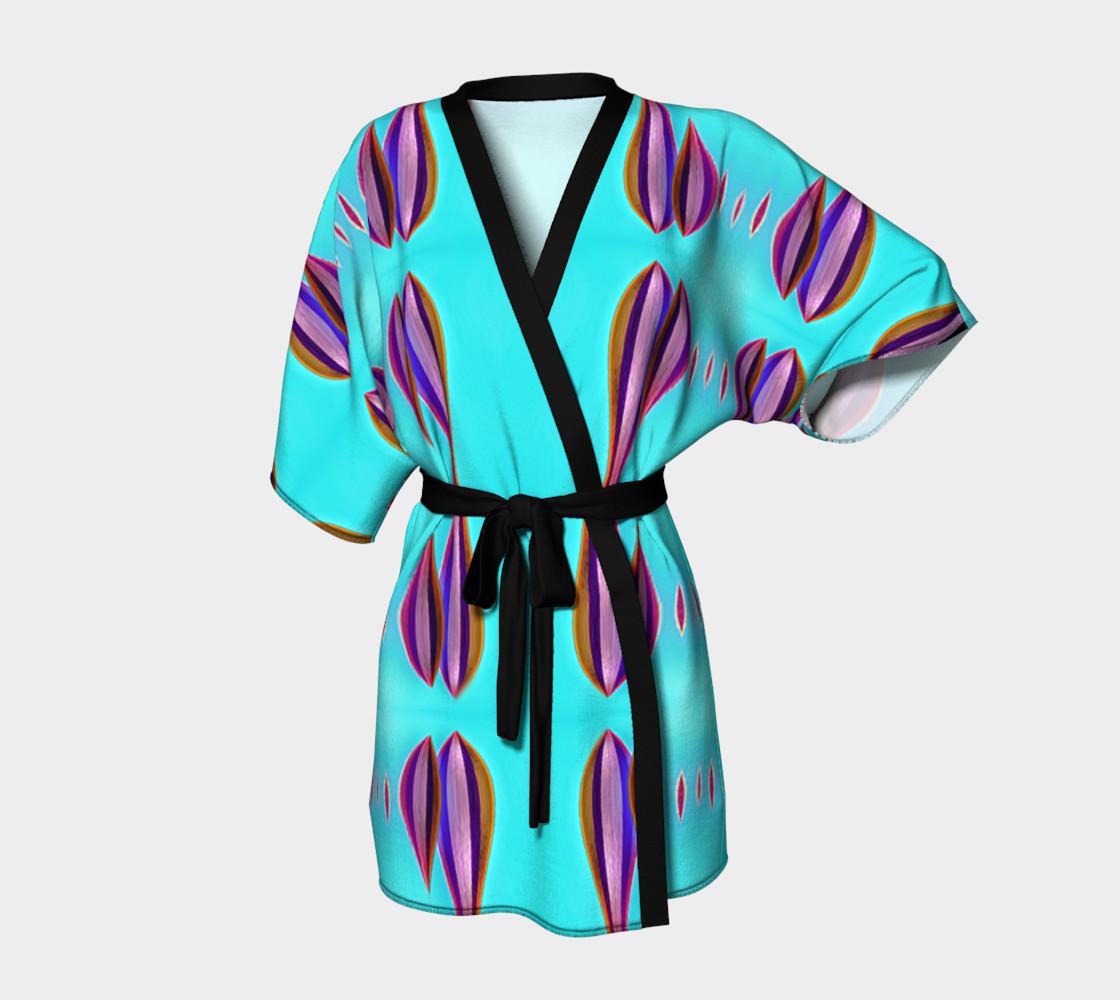 Aperçu de Kinomo robe with sea colors #1