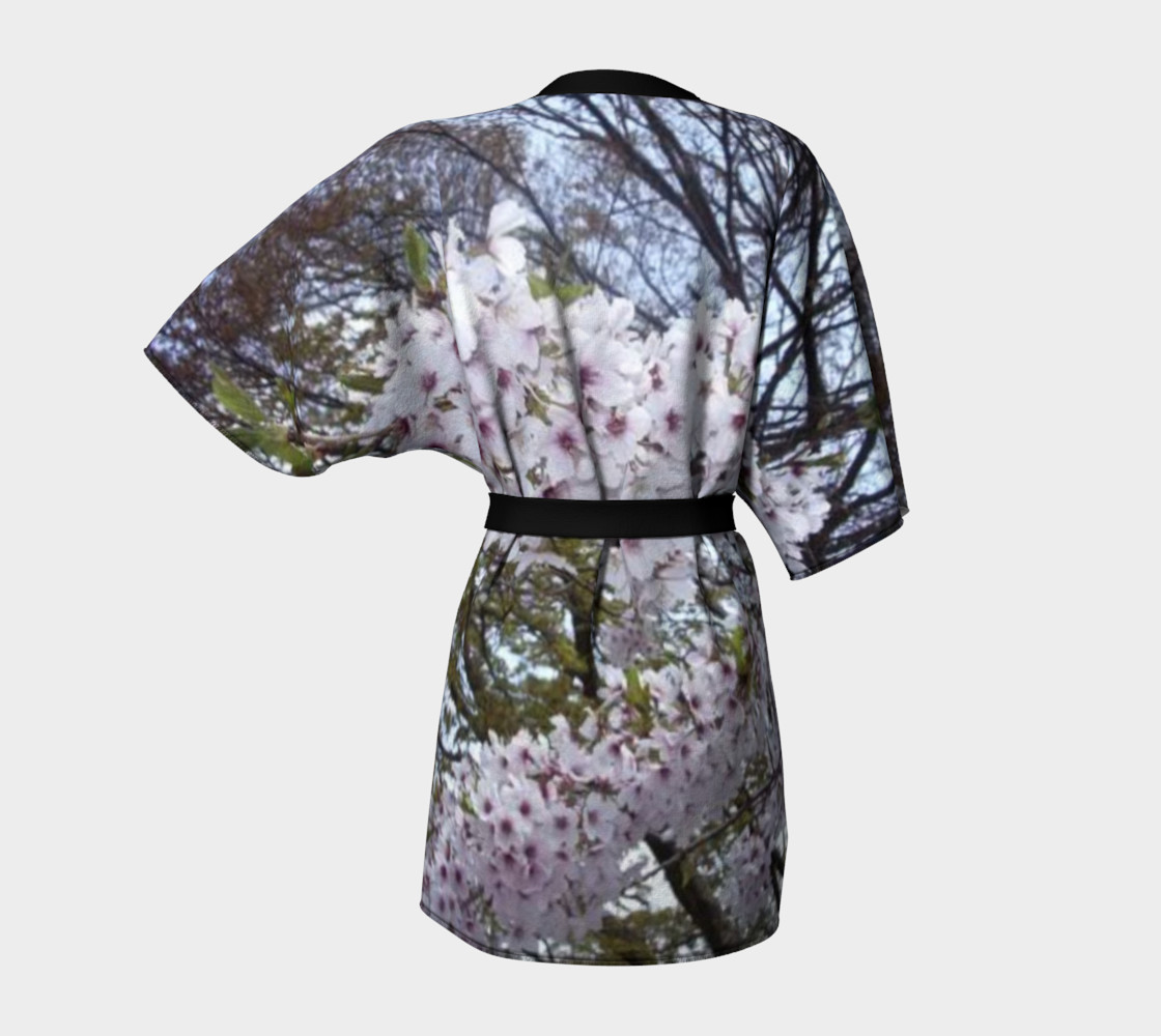 Japan's sweet sakura on Kimono Robe. preview #4