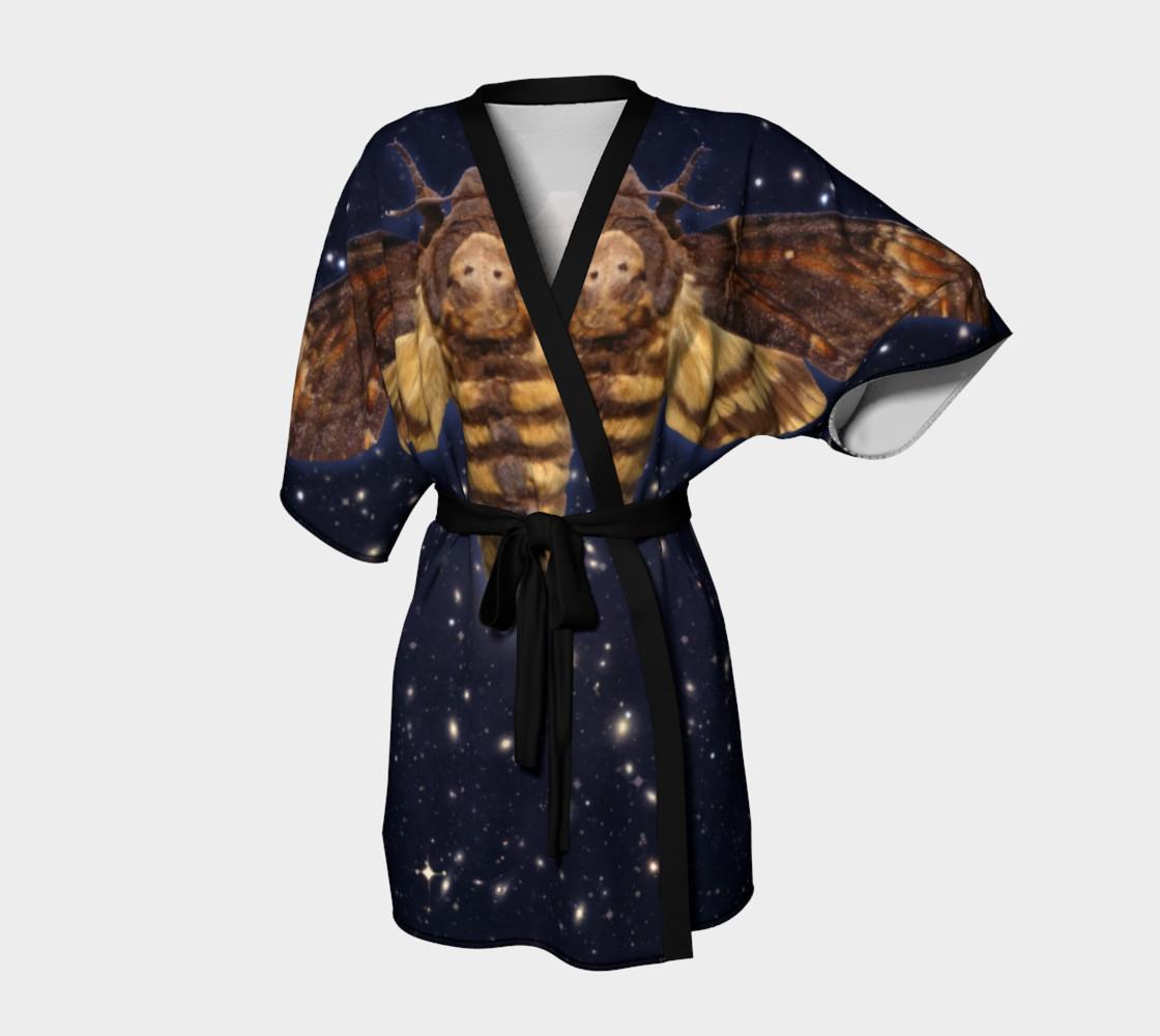 Aperçu de Stellar Death's Head Moth  Kimono Robe #1