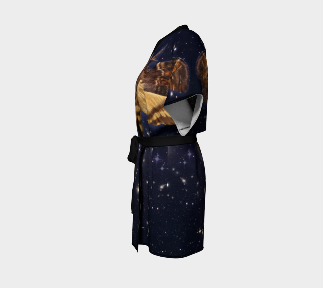 Aperçu de Stellar Death's Head Moth  Kimono Robe #2