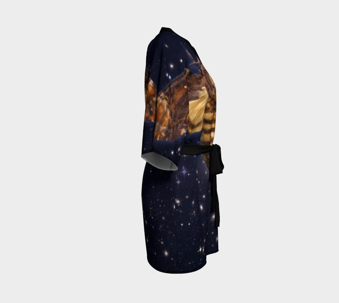 Aperçu de Stellar Death's Head Moth  Kimono Robe #3