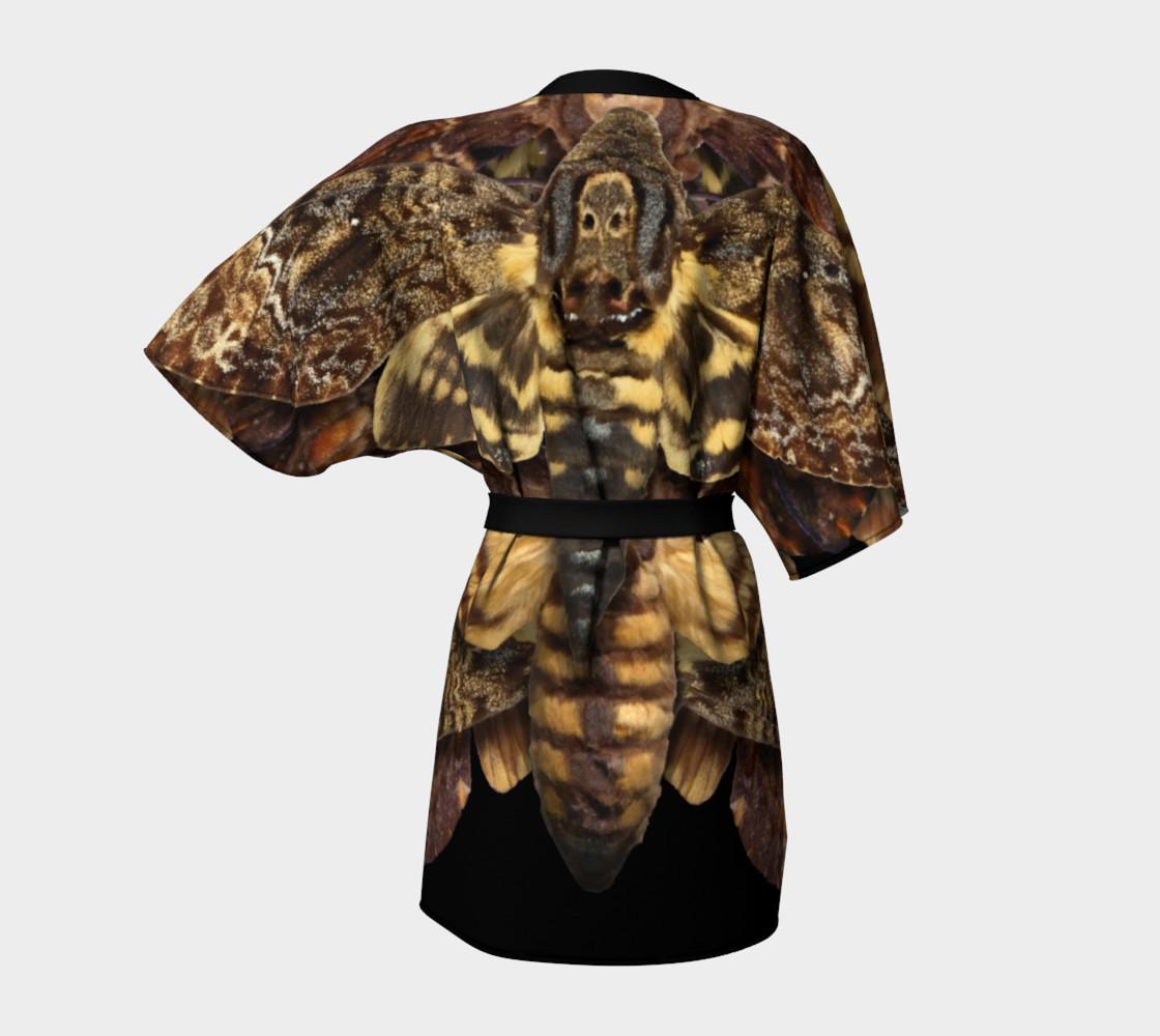 Aperçu de Mondo Death's Head Moth Kimono Robe #4