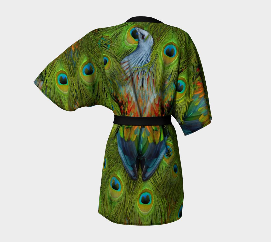 Aperçu de Nicobar-Peacock Fantasy Kimono Robe #4
