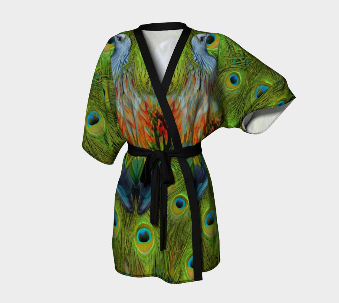 Aperçu de Nicobar-Peacock Fantasy Kimono Robe #1