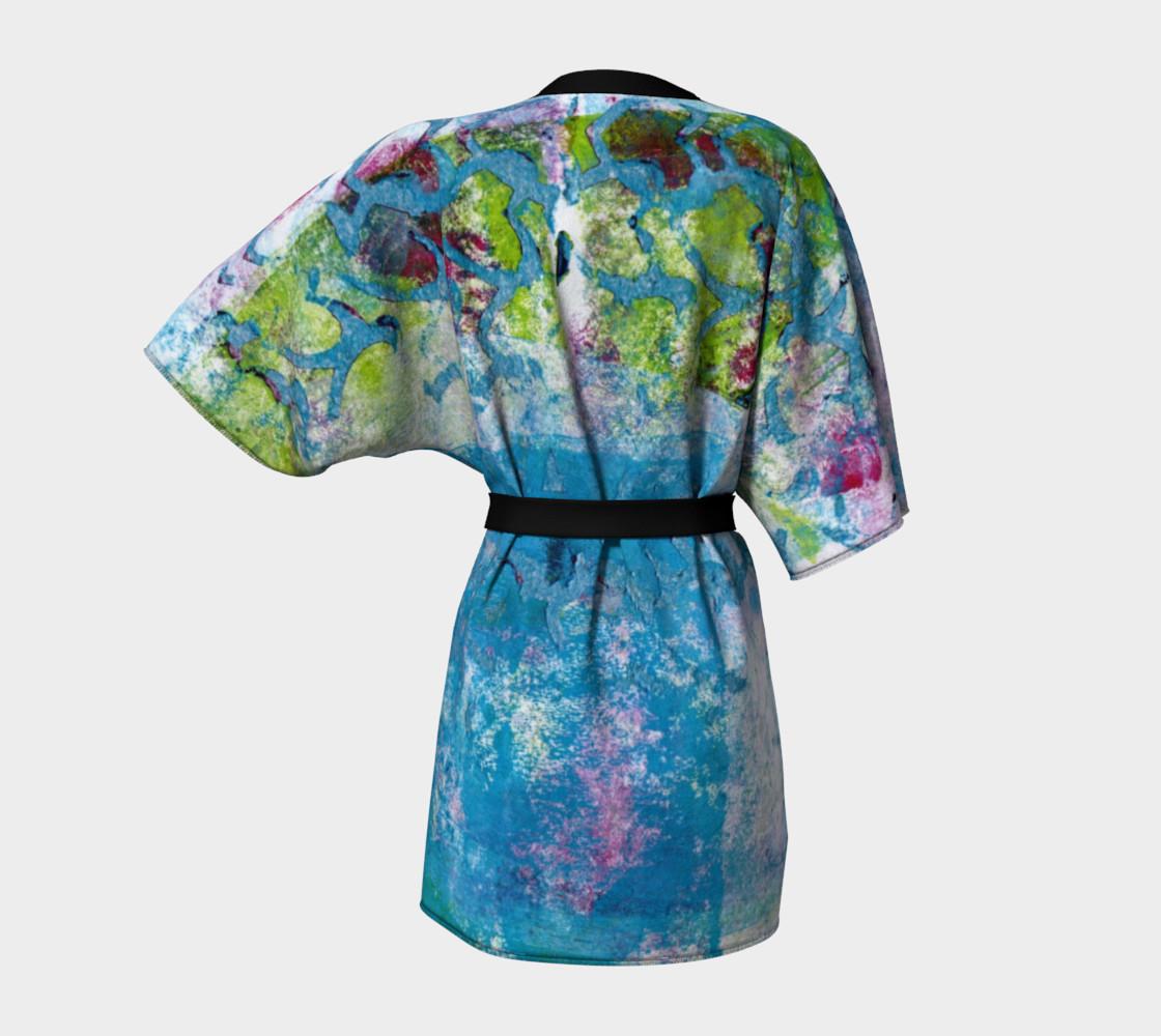 Multicolored Kimono Robe preview #4